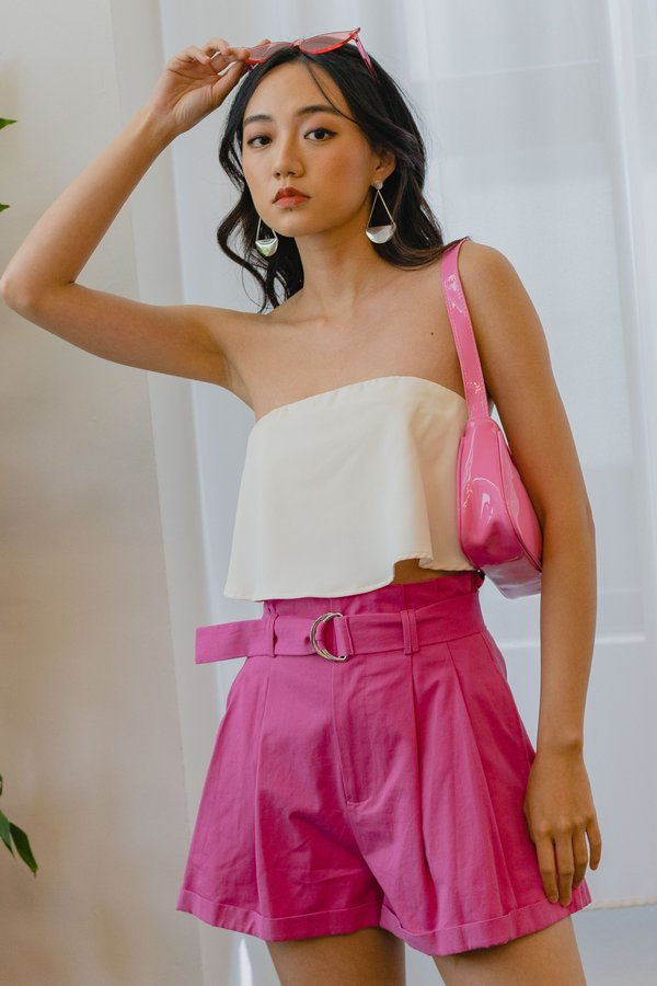 Bag It Up Shorts in Fuchsia Pink