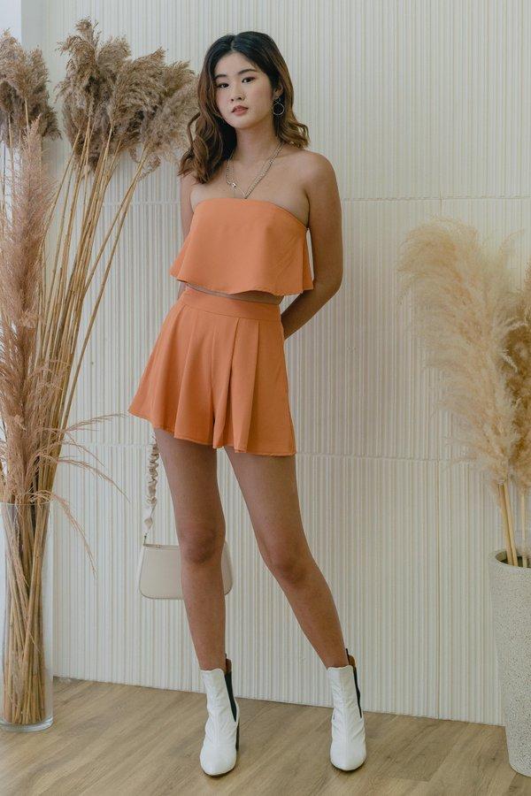 Everything Flows Shorts in Tangerine