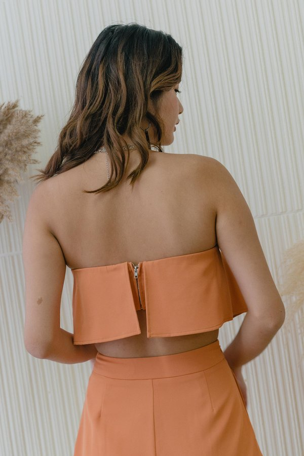 With The Flow Top in Tangerine