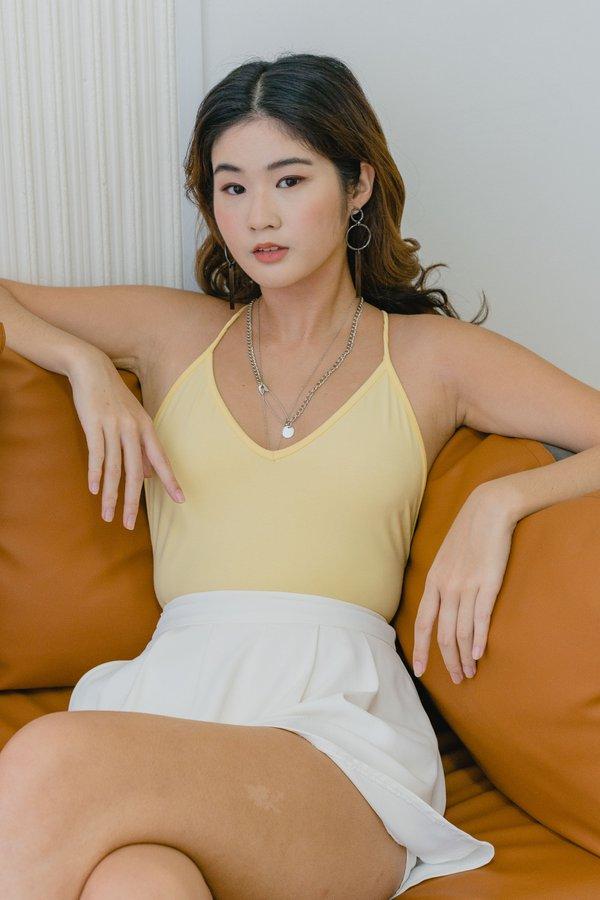 PM To AM Bodysuit in Sweet Corn Yellow