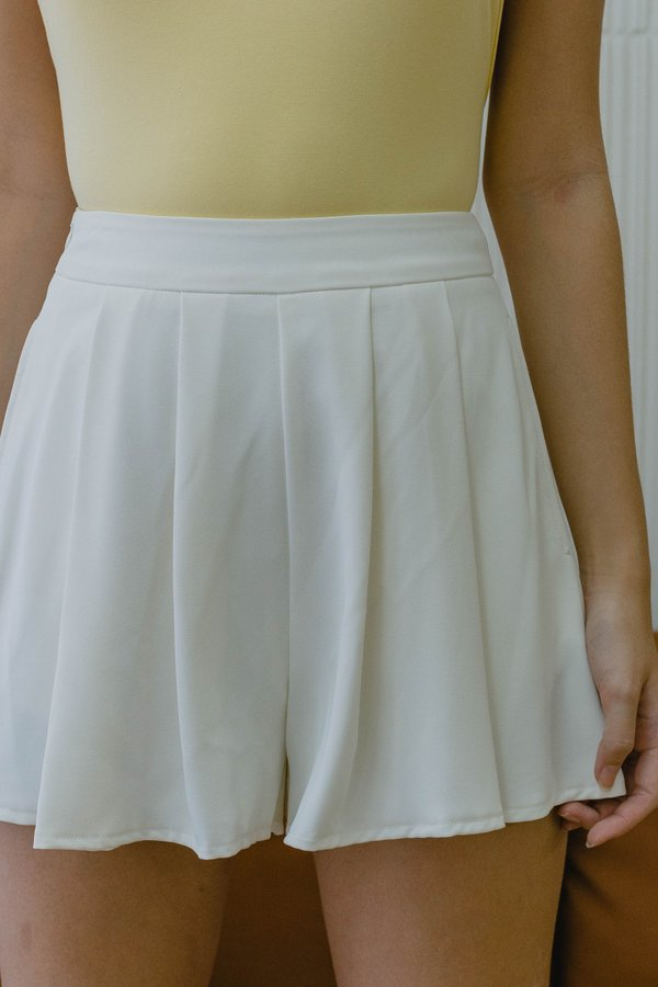 Everything Flows Shorts in White