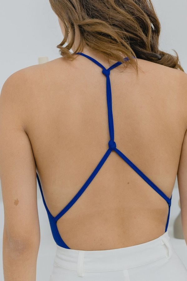 PM To AM Bodysuit in Electric Blue