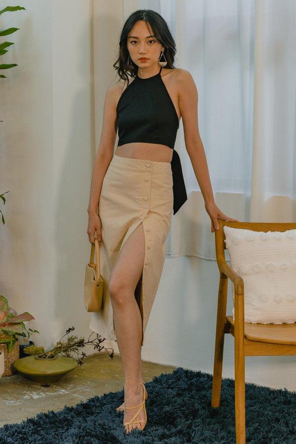 Essence Skirt in Grain Beige
