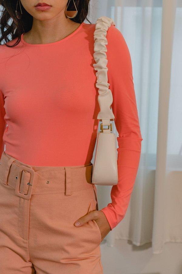 Lookback Bodysuit in Watermelon Pink