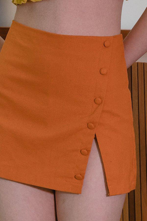 Peekaboo Skorts in Honey Orange
