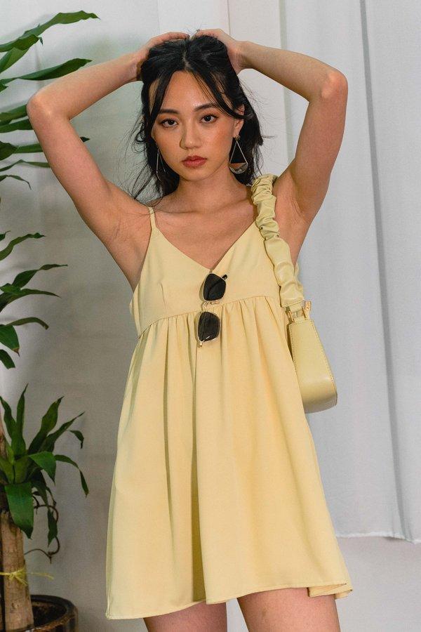 18 Again Dress in Pastel Yellow