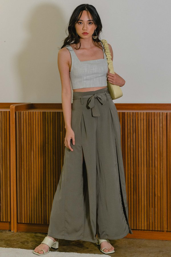 Mind Games Pants in Dull Olive